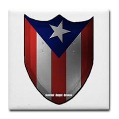 Puerto Rican Shield Tile Coaster
