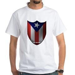 Puerto Rican Shield White T-Shirt