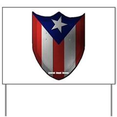 Puerto Rican Shield Yard Sign