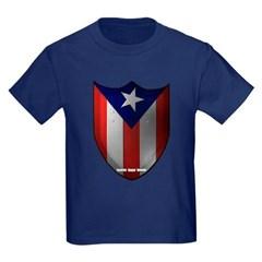 Puerto Rican Shield Youth Dark T-Shirt by Hanes