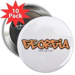 """Georgia Graffiti 2.25"""" Button (10 pack)"""