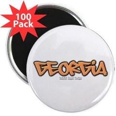 "Georgia Graffiti 2.25"" Magnet (100 pack)"