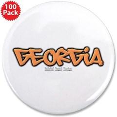 """Georgia Graffiti 3.5"""" Button (100 pack)"""