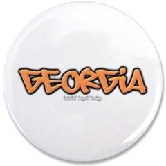 "Georgia Graffiti 3.5"" Button"