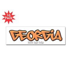 Georgia Graffiti Bumper Sticker 10 Pack