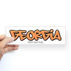 Georgia Graffiti Bumper Sticker