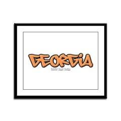 Georgia Graffiti Framed Panel Print