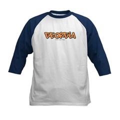Georgia Graffiti Kids Baseball Jersey T-Shirt