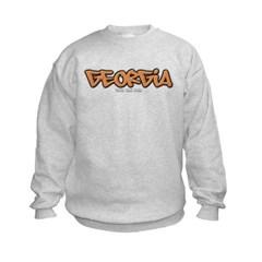Georgia Graffiti Kids Crewneck Sweatshirt by Hanes