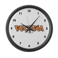 Georgia Graffiti Large Wall Clock