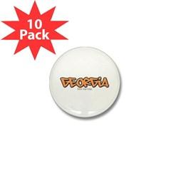 Georgia Graffiti Mini Button (10 pack)
