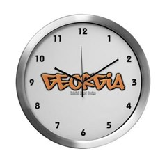 Georgia Graffiti Modern Wall Clock