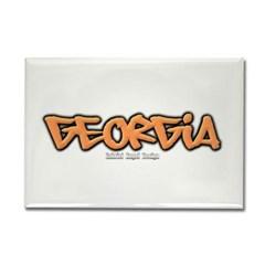Georgia Graffiti Rectangle Magnet
