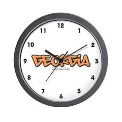 Georgia Graffiti Wall Clock