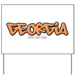 Georgia Graffiti Yard Sign