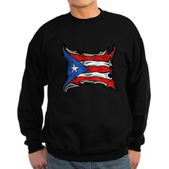 Puerto Rican Heat Flag Dark Sweatshirt