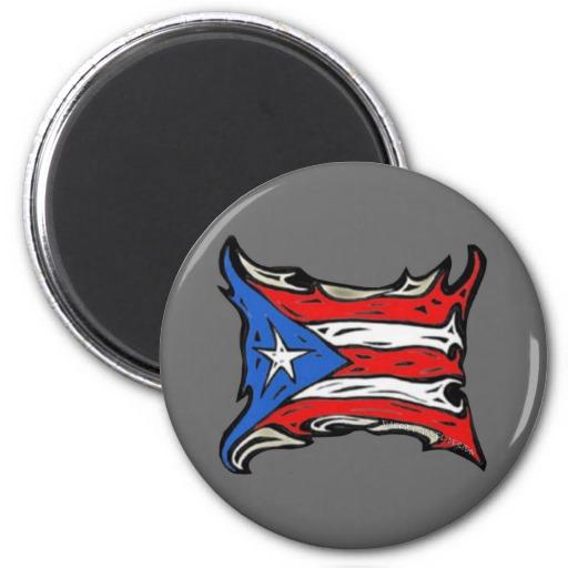 Puerto Rico Flag of Reggaeton 2 Inch Round Magnet