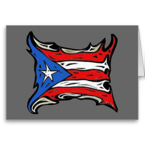 Puerto Rico Flag of Reggaeton Greeting Card