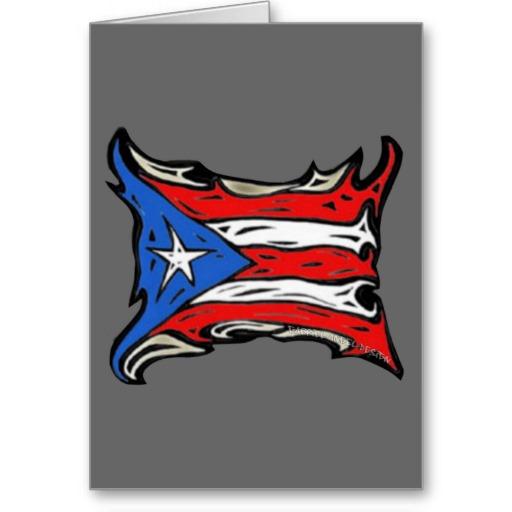 Puerto Rico Flag of Reggaeton Greeting Card