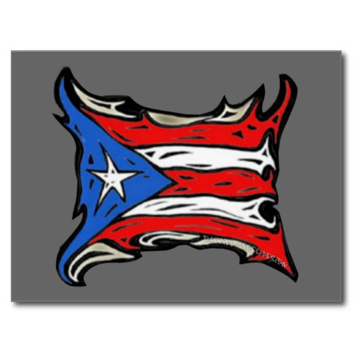 Puerto Rico Flag of Reggaeton Postcard