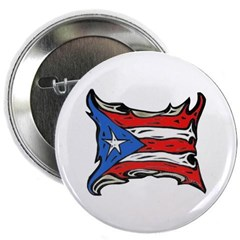 "Puerto Rico Heat Flag 2.25"" Button"