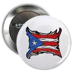 "Puerto Rico Heat Flag 2.25"" Button"