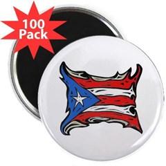 "Puerto Rico Heat Flag 2.25"" Magnet (100 pack)"