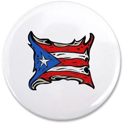 "Puerto Rico Heat Flag 3.5"" Button"