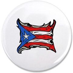 "Puerto Rico Heat Flag 3.5"" Button"