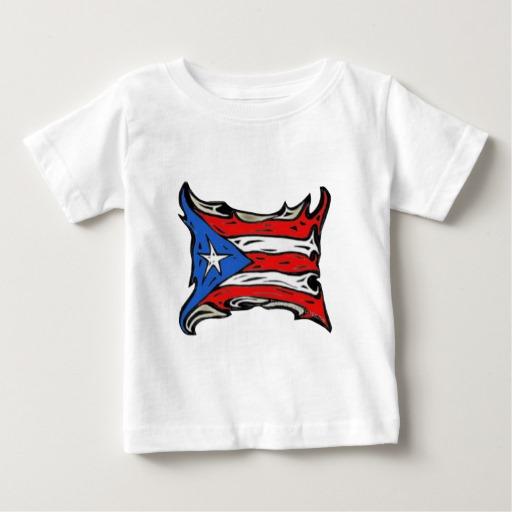 Puerto Rico Heat Flag Baby Fine Jersey T-Shirt