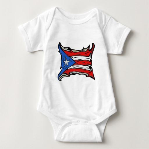 Puerto Rico Heat Flag Baby Jersey Bodysuit