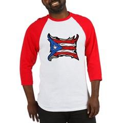 Puerto Rico Heat Flag Baseball Jersey T-Shirt
