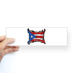 Puerto Rico Heat Flag Bumper Bumper Sticker