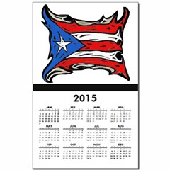 Puerto Rico Heat Flag Calendar Print