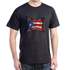 Puerto Rico Heat Flag Dark T-shirt