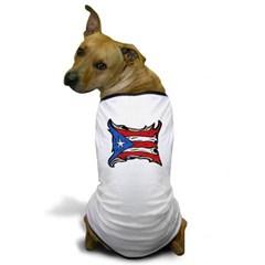 Puerto Rico Heat Flag Dog T-Shirt