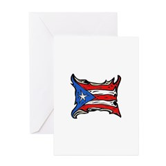 Puerto Rico Heat Flag Greeting Cards (Pk of 10)