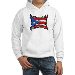 Puerto Rico Heat Flag Hooded Sweatshirt