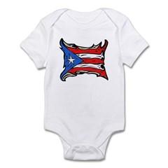 Puerto Rico Heat Flag Infant Bodysuit