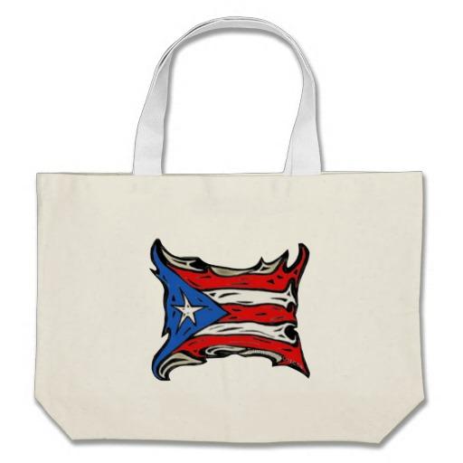 Puerto Rico Heat Flag Jumbo Tote