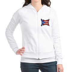 Puerto Rico Heat Flag Junior Zip Hoodie