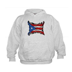 Puerto Rico Heat Flag Kids Sweatshirt by Hanes