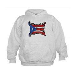 Puerto Rico Heat Flag Kids Sweatshirt by Hanes
