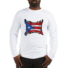 Puerto Rico Heat Flag Long Sleeve T-Shirt