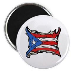 Puerto Rico Heat Flag Magnet