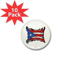 Puerto Rico Heat Flag Mini Button (10 pack)