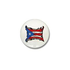 Puerto Rico Heat Flag Mini Button