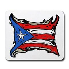 Puerto Rico Heat Flag Mousepad