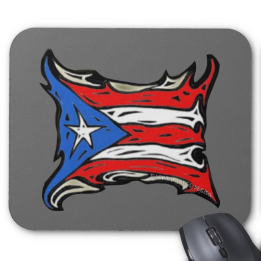 Puerto Rico Heat Flag Mousepad