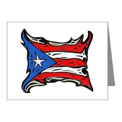 Puerto Rico Heat Flag Note Cards (Pk of 20)